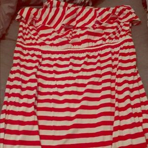 Ruffle Top Tube Dress